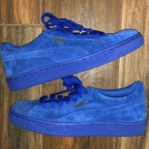 PUMA Royal Blue Suede Sneakers